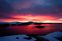 Sunset in Antarctica Royalty Free Stock Photography