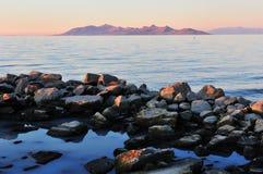 Sunset at Antelope Island Stock Photography