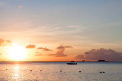 Sunset in Antigua Royalty Free Stock Photos