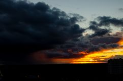 Sunset `Anxious sky` stock photo