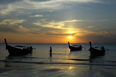 Sunset in Ao Nang royalty free stock images