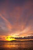 Sunset at Ao Nang bay, Thailand Stock Photos