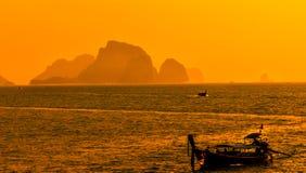 Sunset from Ao Nang beach Krabi, Thailand Stock Images