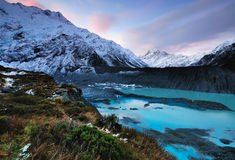 Sunset at Aoraki Mt.Cook Stock Photography