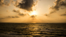 Sunset at Apollonia Beach royalty free stock photos