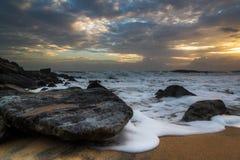 Sunset in Arabian Sea Royalty Free Stock Photos