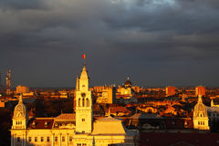 Sunset in Arad Royalty Free Stock Photography