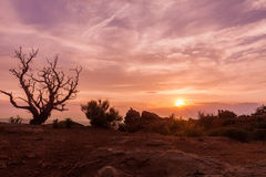 Sunset in Arches Royalty Free Stock Photos