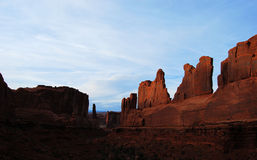 Sunset at Arches National Park Stock Images