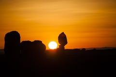 Sunset - Arches National Park - Moab, Utah Stock Photos