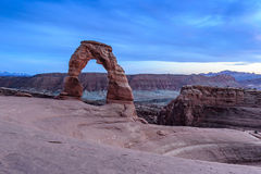 Sunset at Arches National Park in Utah Stock Photography