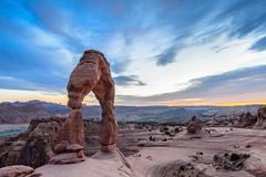 Sunset at Arches National Park in Utah Stock Images