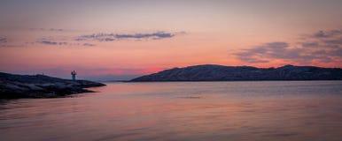 Sunset at the archipelago of Bohuslän, Sweden Stock Photography