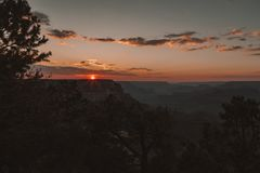 Sunset in Arizona Horseshoe Bend meander. Of Colorado River in Glen Canyon Stock Images