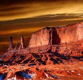 Sunset Arizona Monument Valley Royalty Free Stock Photo