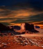 Sunset Arizona Monument Valley Stock Photography