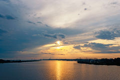 Sunset in arkhangelsk Royalty Free Stock Images