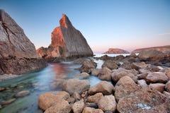 Sunset in Arnía Royalty Free Stock Photos