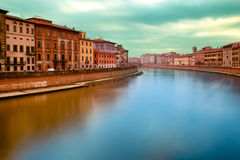 Sunset On Arno River Pisa Italy Stock Photography