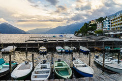 Sunset in Ascona, Switzerland Stock Photos