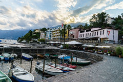 Sunset in Ascona, Switzerland Stock Photography