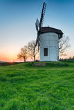 Sunset at Ashton Windmill Royalty Free Stock Photography