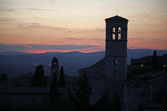 Sunset Assisi Royalty Free Stock Image