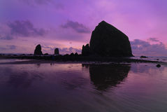 Sunset At Cannon Beach Royalty Free Stock Photos
