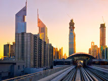 Sunset At Dubai, UAE Stock Image