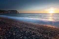 Free Sunset At Etretat Beach Royalty Free Stock Photo - 96208355