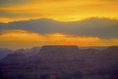 Sunset At Grand Canyon Seen From Desert View Point, South Rim Stock Image