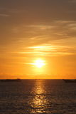 Sunset At Jimbaran Beach, BALI Island , Indonisia. Stock Photo