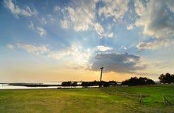 Sunset At Kasairinkai Park, Tokyo, Japan Stock Photography