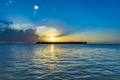 Free Sunset At Key West, Mallory Point Royalty Free Stock Image - 182988356