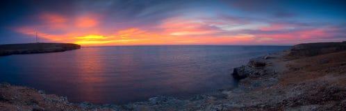 Sunset At Seacoast Stock Photo