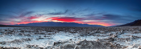 Free Sunset At The Badwater Basin. Stock Image - 46793041