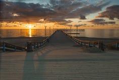 Free Sunset At The  Baltic Sea,Palanga Royalty Free Stock Image - 34650636
