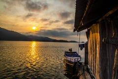 Sunset At The Lake Nature Background Royalty Free Stock Photo