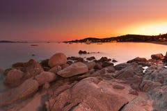 Sunset At The Sea Stock Photos