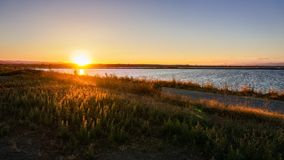 Free Sunset At The Shoreline Park, Mountain View, San Francisco Bay Area, California Stock Photography - 141516502