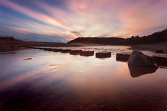 Free Sunset At Three Cliffs Bay Stock Images - 80946464