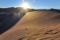 Sunset in the Atacama Desert, Chile Royalty Free Stock Images