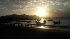 Sunset. Atardecer en el MAR caribe Stock Photos