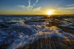 Sunset on the Atlantic Coast Cadiz Spain Stock Photo