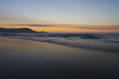 Sunset on atlantic coast Stock Image