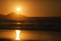 Sunset on atlantic coast Royalty Free Stock Photography