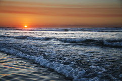 Sunset on atlantic coast Stock Photography