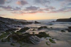Sunset on atlantic coast Royalty Free Stock Photos