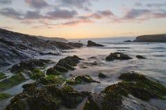 Sunset on atlantic coast Stock Photos