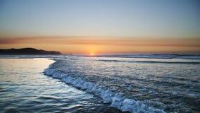 Sunset on atlantic coast Royalty Free Stock Images